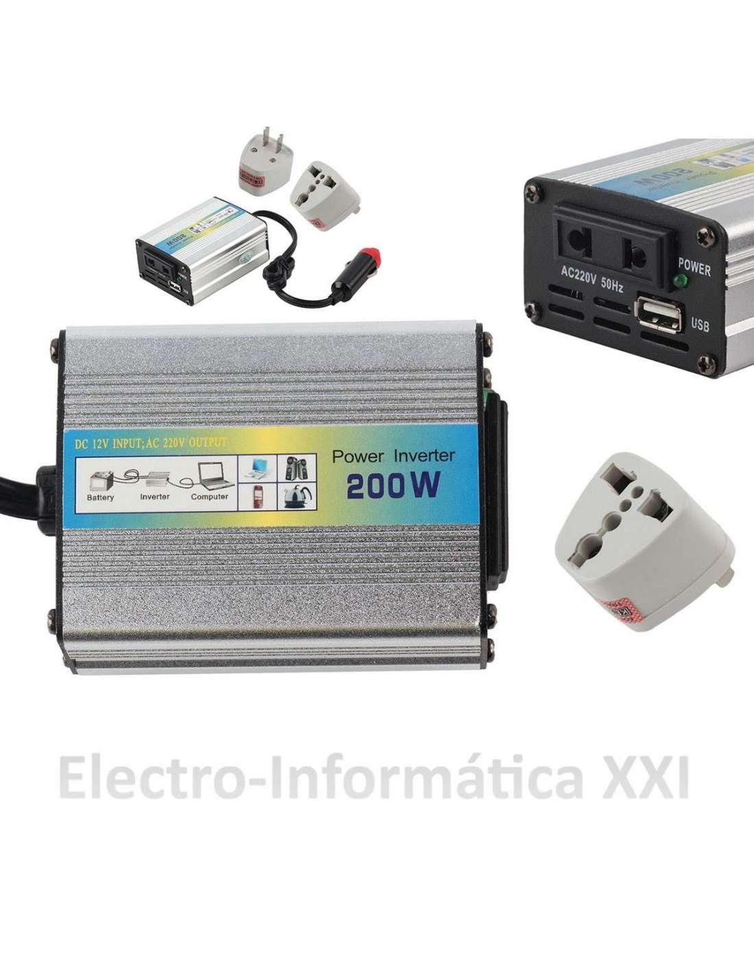 Transformador inversor 200w 12v dc 220v ac adaptador - Transformador 220 a 12v ...