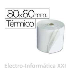 PACK 5 ROLLOS DE PAPEL TERMICO IMPRESORA TICKET 80X60MM