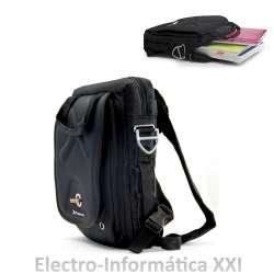 "MOCHILA BANDOLERA HASTA 13.3"" PULGADAS PARA TABLET/NETBOOK/PORTATIL COLOR NEGRO - MALETIN PHOENIX BLACK EXTREME"