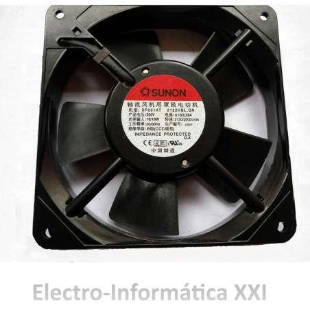 Ventilador Aluminio Sunon 120x120x25mm 220V A Sin Escobillas