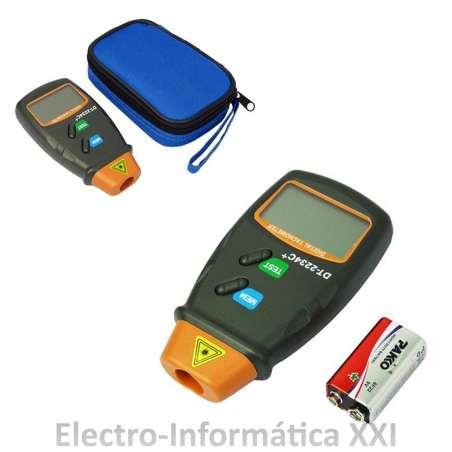 Tacómetro Digital Laser Medidor de Revoluciones A Distancia Pantalla Lcd