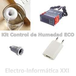 Kit Control de Humedad para Incubadoras Eco Higrostato WH8040 220V + Humidificador USB