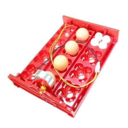 Mini Bandeja de Volteo Automático 12 Huevos Grandes 48 Pequeños Motor Giro Lento Incubadoras