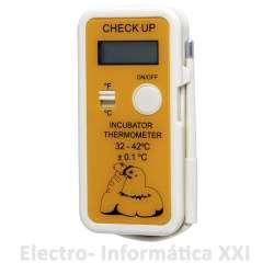 Termómetro Digital de Cría Alta Precisión para Incubación con Sonda Check Up