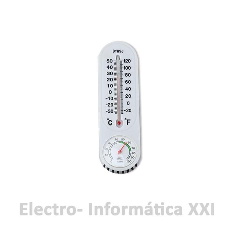 Termómetro Higrómetro analógico de Plástico para Interior modelo Económico