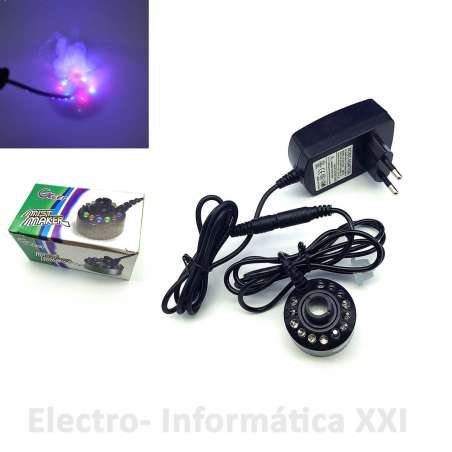 Humidificador Por Ultrasonidos Mist Maker 12 Led Colores Incubadoras