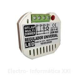 Regulador Universal De Intensidad Varilamp Multi Dimmer 250W Compatible con Cualquier Led