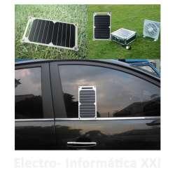 Placa Solar Cargador Flexible 10W 5V Salida USB Smartphone Ventosas Ideal Coche o Ventana