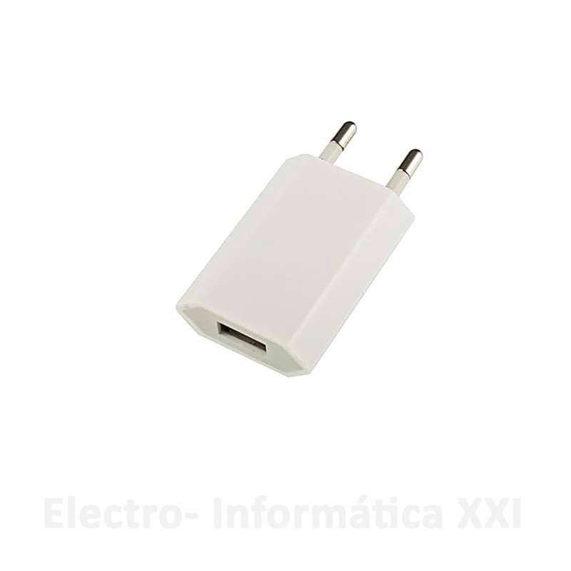 Adaptador USB a Enchufe 1A para Mini Humidificador Por Ultrasonidos USB