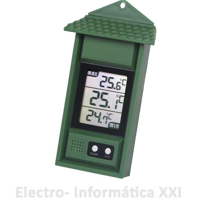 Termómetro Máximo y Mínimo con Memoria para Interior y Exterior -20º a 50º Grados