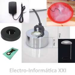 Kit Humidificador Mist Maker + Flotador + Antisalpicaduras + Repuesto Membrana Humedad Incubadoras