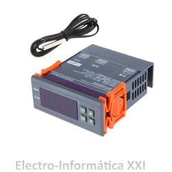 Termostato Digital De Encastrar 220 V Display Led Controlador De Temperatura Con Sonda